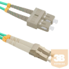 Qoltec Optic Patchcord LC/UPC - SC/UPC | Multimode | 50/125 | OM4 | Duplex | 1m