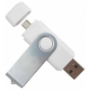 Quazar 2in1 smart pendrive 32GB (fehér) QZR-PE01-32-W