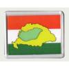 """""""Kis és Nagy"""" Magyarország hűtőmágnes (műanyag keretes)"""