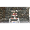 R2S Chocolate téglalap alakú üvegtál, fényes-pöttyös, 36X17 cm, 153250