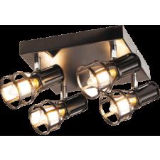 RÁBALUX Rábalux 5961 Aria, indusztriális stílusú szpot lámpa E14 4x MAX 40W matt fekete világítás