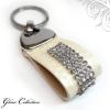 Ragyogj.hu 4 kősoros bőr kulcstartó - Crystal - Swarovski kristályos