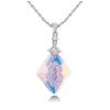 Ragyogj.hu Alonza - Swarovski kristályos nyaklánc - színjátszó fehér
