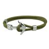Ragyogj.hu Anchorissime - horgony karkötő - ezüst- katonai zöld kötéllel
