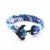 Ragyogj.hu Anchorissime - horgony karkötő - fekete- kék virágos