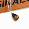 Ragyogj.hu Csepp alakú természetes kőből készült nyaklánc - barna cirmos
