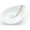 Ragyogj.hu Csepp alakú természetes kőből készült nyaklánc - üvegfehér