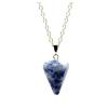 Ragyogj.hu Gúla alakú természetes kőből készült nyaklánc - kék cirmos