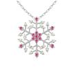 Ragyogj.hu Hópehely-rózsaszín- Swarovski kristályos nyaklánc