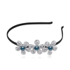 Ragyogj.hu Hugh flowers- kék- Swarovski kristályos hajpánt