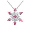 Ragyogj.hu Ice flower - Swarovski kristályos nyaklánc - rózsaszín