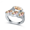 Ragyogj.hu Izolda-borostyán-Swarovski kristályos - Gyűrű