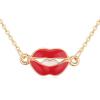 Ragyogj.hu Kiss my lips- arany-  Swarovski kristályos nyaklánc