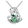 Ragyogj.hu Kristályos szív - Swarovski kristályos nyaklánc - zöld