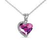 Ragyogj.hu MACARON - Swarovski kristályos szív alakú nyaklánc díszdobozban - rózsaszín