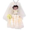 Ragyogj.hu Menyasszony rózsával - nyaklánc - fehér