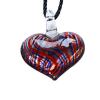 Ragyogj.hu Muránói üveg medál, szív alakú - piros