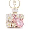 Ragyogj.hu Parfüm - kristályos kulcstartó - rózsaszín