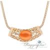 Ragyogj.hu - Swarovski Gaia - narancs opál- Swarovski kristályos nyaklánc