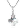 Ragyogj.hu - Swarovski Kereszt - fehér- Swarovski kristályos nyaklánc