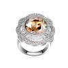 Ragyogj.hu - Swarovski Nemeszisz- borostyán- Swarovski kristályos - Gyűrű