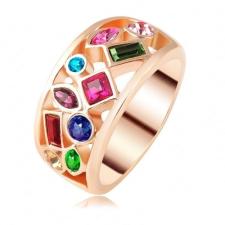 """Ragyogj.hu """"Színes kert """" - Swarovski kristályos divatgyűrű gyűrű"""
