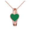 Ragyogj.hu Szívgyűrű- zöld- Swarovski kristályos - nyaklánc