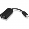 RaidSonic Displayport mini -> VGA M/F adapter 0.15m fekete