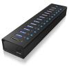 RaidSonic icy box ib-ac6113 13 portos usb3.0 hub