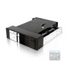 """RaidSonic ICY BOX Mobile Rack, IB-172SK-B, 1*2,5""""+ 1*3,5"""", SATA, fekete"""