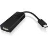 RaidSonic ICY BOX USB C -> HDMI M/F adapter fekete Up to 3840x2160@30 Hz ICY BOX