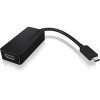 RaidSonic ICY BOX USB C -> HDMI M/F adapter fekete Up to 4096x2160@60Hz
