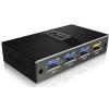 RaidSonic IcyBox 4 portos USB 3.0 Hub USB töltővel, fekete