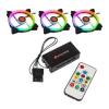 RAIJINTEK Iris 14 Rainbow RGB LED 3as csomag vezérlővel (0R400050)
