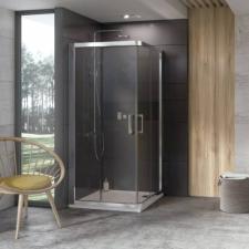 Ravak 10° 10RV2 - 80 zuhanykabin szatén kerettel, transparent edzett biztonságiüveg betéttel  1ZI40U00Z1 kád, zuhanykabin