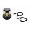 Rave világító Bluetooth®-hangszóró, fekete