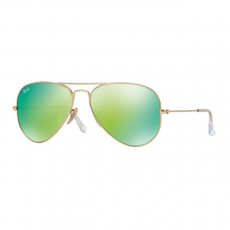 Ray-Ban RB3025 112/19 AVIATOR MATTE GOLD CRY.GREEN MIRROR MULTIL.GREEN napszemüveg