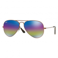 Ray-Ban RB3025 9019C2 AVIATOR METALLIC DARK BRONZE LIGHT GREY MIRROR RAINBOW 2 napszemüveg