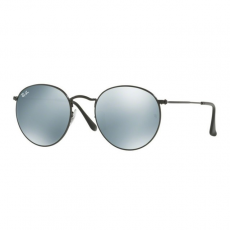 Ray-Ban RB3447 002/30  ROUND METAL BLACK LIGHT GREEN MIRROR SILVER napszemüveg