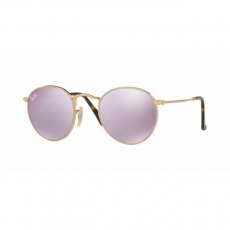 Ray-Ban RB3447N 001/8O ROUND METAL SHINY GOLD WISTERIA FLASH napszemüveg