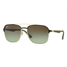 Ray-Ban RB3570 9110E8 GOLD/BLACK GREEN GRADIENT BROWN napszemüveg