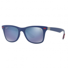Ray-Ban RB4195M F604H0 FERRARI MATTE BLUE GREY MIRROR BLUE POLAR napszemüveg