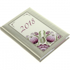 REALSYSTEM 2-Day B/6 zsebnaptár 2018 - lilavirág naptár, kalendárium