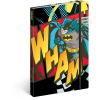 REALSYSTEM Design notesz - Batman – Wham, lined, 13 x 21 cm
