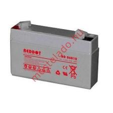 REDDOT 6V 1,2Ah DD06012 Zselés akkumulátor speciális elem