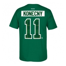 Reebok Philadelphia Flyers fĂŠrfi póló green #11 Travis Konecny St. Paddy´s Name & Number - XXL