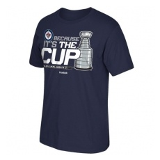 Reebok Winnipeg Jets fĂŠrfi póló blue Because it´s the Cup - Stanley Cup Playoffs 2015 - L