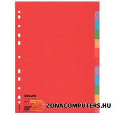 """Regiszter, karton, A4, 12 részes, ESSELTE """"Economy"""", színes  (E100202) irattartó"""