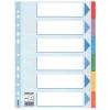 Regiszter, karton, A4, 6 részes, írható előlappal, ESSELTE Standard, színes
