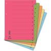 Regiszter, karton, A4, mikroperforált, DONAU, vegyes színek 50 db/csomag